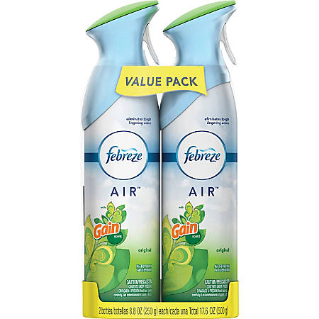 Febreze Air Freshener Spray - Spray - 8.8 fl oz (0.3 quart) - Gain Original - 12 / Carton - Odor Neutralizer, VOC-free
