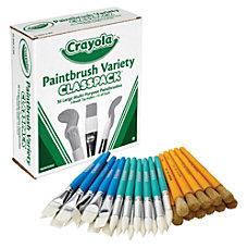Crayola Paintbrush Variety Classpack 36 Brushes