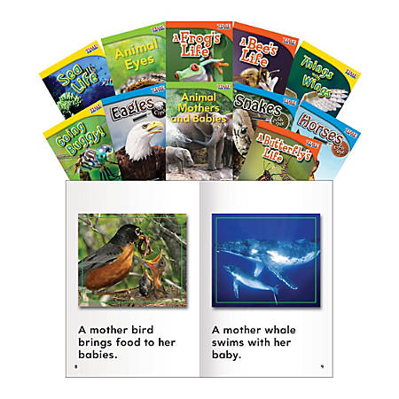 Teacher Created Materials Animals And Insects Book Set, Grades 1 - 2, Set Of 11 Books