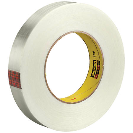 "Scotch® 880 Strapping Tape, 3"" Core, 1"" x 60 Yd., Clear, Case Of 36"