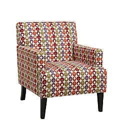 Ave Six Carrington Arm Chair ConfettiDark
