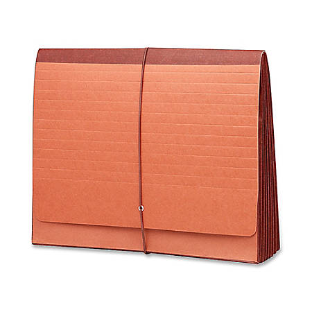 """Smead® Extra-Wide Super-Tuff Wallet, Letter Size, 5 1/4"""" Expansion, 30% Recycled, Redrope"""
