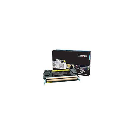Lexmark - High Yield - yellow - original - toner cartridge LRP - for Lexmark X748de, X748dte