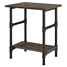 Ameriwood Home Carter End Table RusticBlack