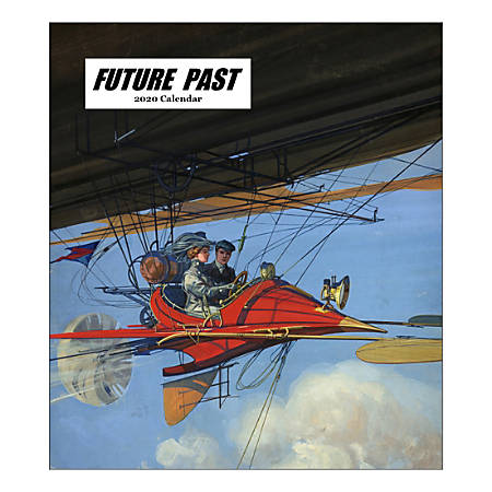 "Retrospect Future Past Monthly Desk Calendar, 6-1/4"" x 5-1/2"", January To December 2020, YCD 062-20"
