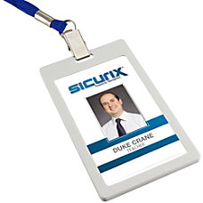 SICURIX Badge Holder Vertical 6 Pack