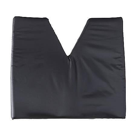"DMI® Contoured Foam Coccyx Seat Cushion, 18""H x 16""W x 2""D, Black"