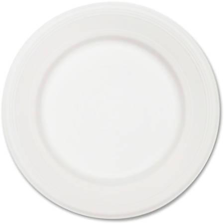 "Chinet Classic White Plates - 10.50"" Diameter Plate - Paper, Fiber - Disposable - Microwave Safe - 500 Piece(s) / Carton"