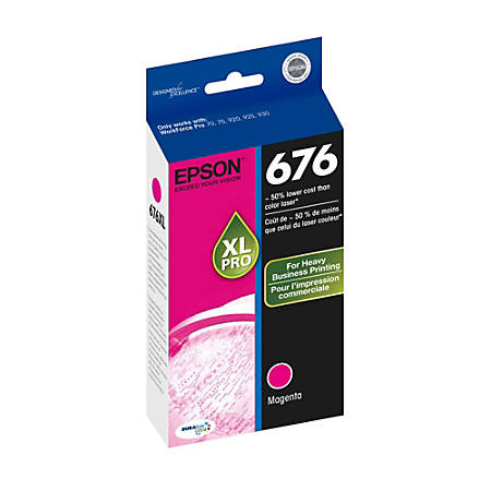 Epson® 676, (T676XL320-S) DuraBrite® Ultra Magenta Ink Cartridge