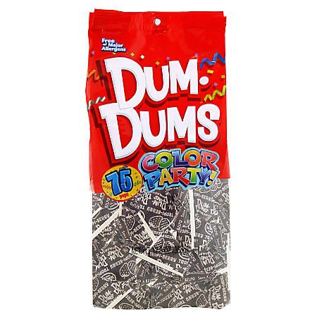 Dum Dums Tropi-Berry Lollipops, Party Silver, 75 Pieces Per Bag, Pack Of 2 Bags
