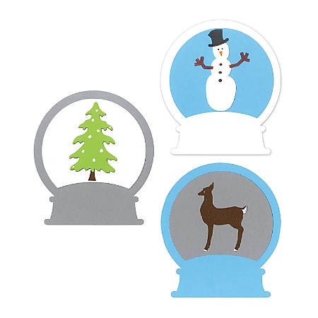 Sizzix® Bigz™ Die, Large, Snowglobe With Deer And Snowman