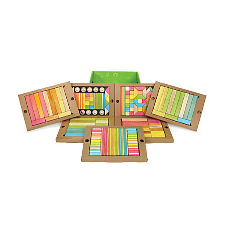Tegu Magnetic Wooden Blocks Tints Classroom Kit, Kindergarten - Grade 6