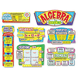 Trend Algebra Basics Bulletin Board Set