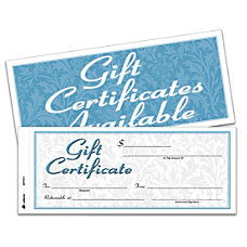 Adams 2 Part Gift Certificates Kit