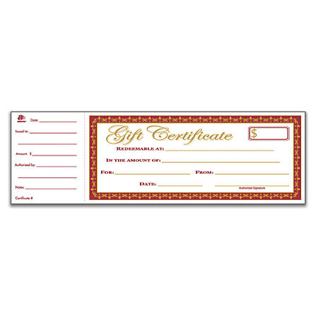 Adams 1 Part Gift Certificates 3