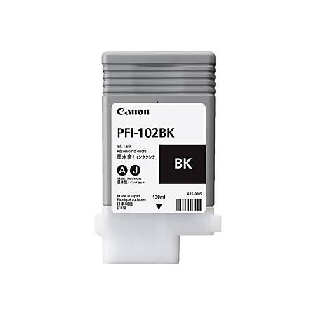 Canon PFI-102 BK - 130 ml - black - original - ink tank - for imagePROGRAF iPF510, iPF605, iPF650, iPF655, iPF710, iPF720, iPF750, iPF755, LP17, LP24