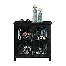 Sauder Inspired Accents Storage Cabinet Black
