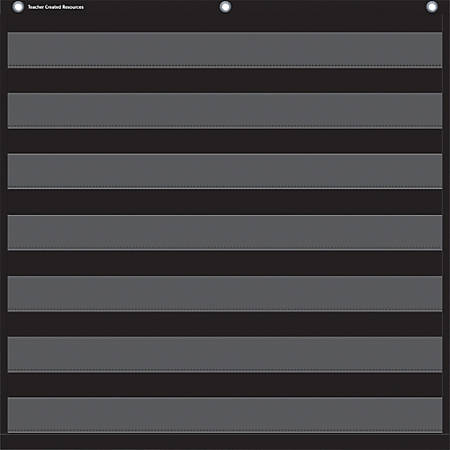 Teacher Created Resources Black Pocket Chart - Theme/Subject: Learning - Skill Learning: Chart