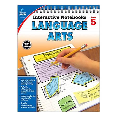 Carson-Dellosa Interactive Language Arts Notebook, Grade 5