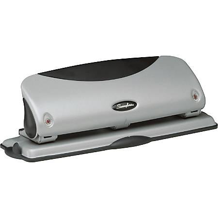 Swingline® Easy View 3-Hole Punch, Black/Silver
