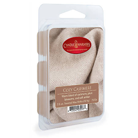 Candle Warmers Etc Wax Melts, Cozy Cashmere, 2.5 Oz, Case Of 4 Packs