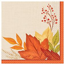 Amscan Autumn Fall Foliage Paper Beverage