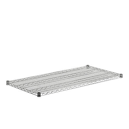 "Honey-Can-Do Plated Steel Shelf, 18"" x 48"", Chrome"