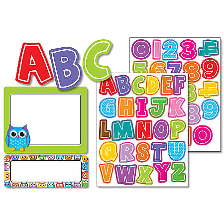Carson-Dellosa Colorful Chalkboard Variety Sticker Pack, Colorful Owls, Multicolor, Pack Of 197