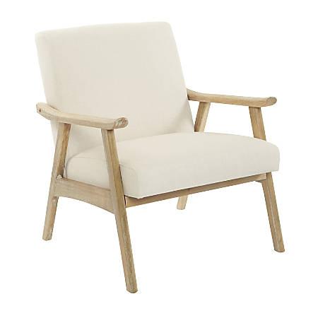 Ave Six Work Smart™ Weldon Chair, Linen/Light Brown