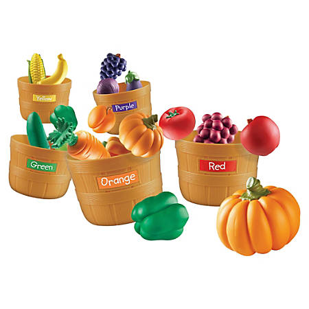 Learning Resources® Farmer's Market Color Sorting Set, Pre-K - Grade 3