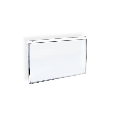 """Azar Displays Wall-Mount U-Frame Acrylic Sign Holders, 8 1/2"""" x 11"""", Clear, Pack Of 10"""