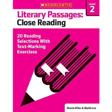 Scholastic Literary Passages Close Reading Workbook, Grade 2
