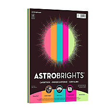 Astrobrights Bright Cover Paper Letter Paper