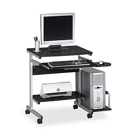 Mayline Portrait PC Desk Cart, Anthracite/Metallic Gray