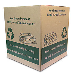 free ink toner cartridge recycling box with prepaid return shipping label 22 h x 20 w x 20 d. Black Bedroom Furniture Sets. Home Design Ideas