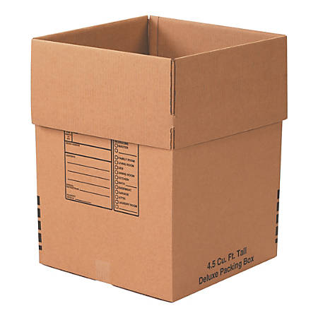 """Office Depot® Brand Deluxe Packing Boxes, 18"""" x 18"""" x 24"""", Kraft, Bundle Of 6 Boxes"""