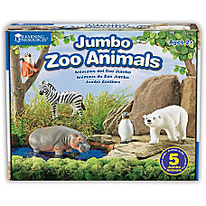 Learning Resources Jumbo Figures Zoo Animals
