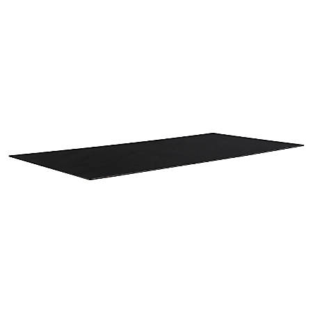 Lorell Rectangular Conference Table Top W Black Glass By Office - Black glass conference table