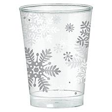 Amscan Christmas Snowflake Plastic Tumblers 10