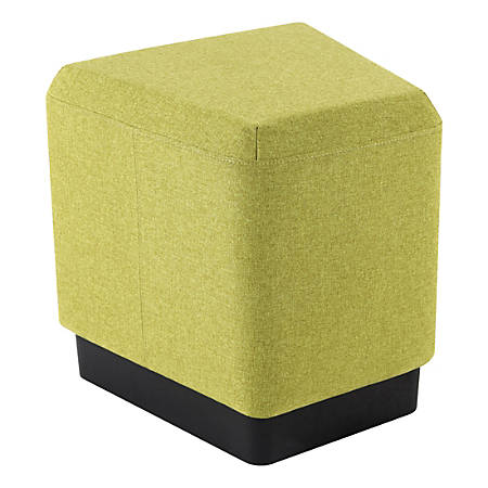 "Lorell® Contemporary Trapezoid Ottoman, 17""H, Green"