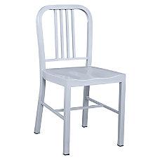 Lorell Metal Chair Brushed Silver Set