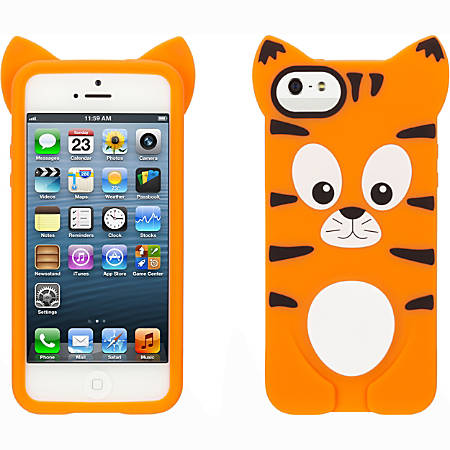 Griffin Animal Parade Case Series for iPhone 5/5S - For Apple iPhone Smartphone - Tiger - Silicone