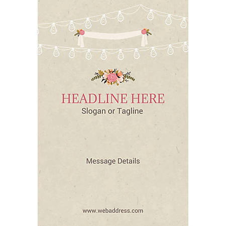 Custom Poster, Wedding Celebration , Vertical