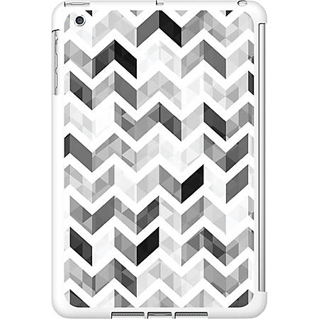 OTM iPad Mini White Glossy Case Ziggy Collection, Grey - For iPad mini - Ziggy - White, Gray - Glossy