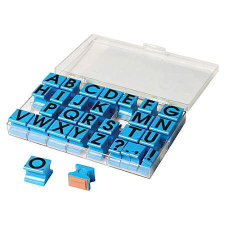 Educational Insights Uppercase Alphabet Stamps - Custom Message StampPlastic Housing - 30 / Set