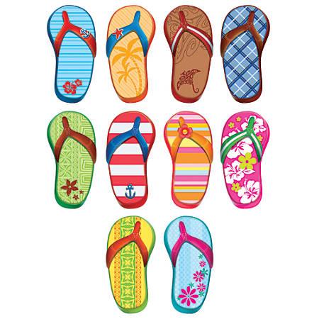 Teacher Created Resources Decorative Accents, Flip Flops, Multicolor, Pre-K - Grade 8, Pack Of 30