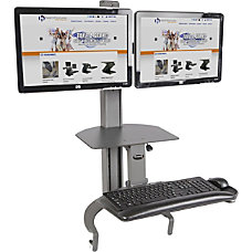 HealthPostures TaskMate Dual Monitor Sit To