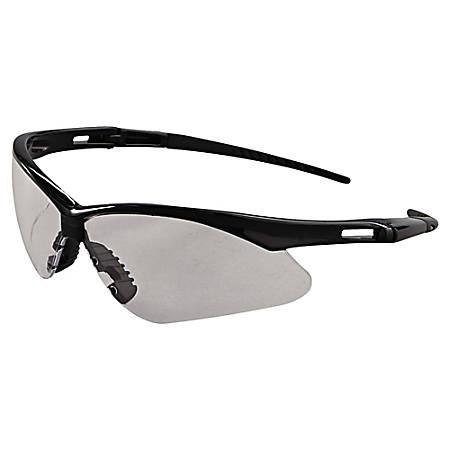 Kleenguard Nemesis Safety Glasses, One Size, Black Frame/Clear Lens