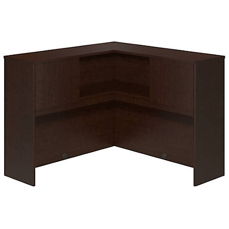 "Bush Business Furniture Components Elite Corner Hutch, 48""W, Mocha Cherry, Premium Installation"