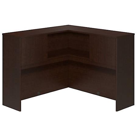 "Bush Business Furniture Components Elite Corner Hutch, 48""W, Mocha Cherry, Premium Installation"